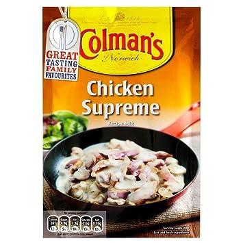 Colmans Pollo Mezcla De Salsa Suprema (38g) (Paquete de ...