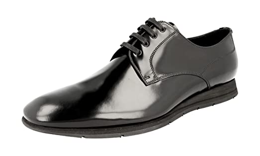 Men's 4E2662 Brushed Spazzolato Leather Business Shoes
