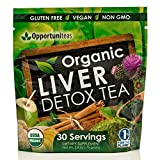 : Organic Liver Detox Tea - Matcha Green Tea, Milk Thistle, Coconut Water, Spirulina, Ginger, Cinnamon - Natural Cleanse To Boost Energy & Feel Better - Liver Care Support Supplement. Vegan & Non GMO