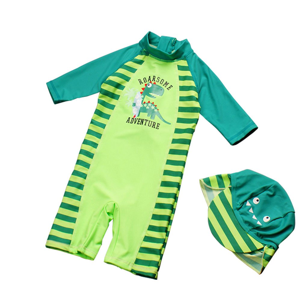 Kids Swimwear Boys Swimsuits Anti-UV Sun Safe Swimming Beach Costume Child All-in-One Sun Protection Sunsuit With Swimming Cap Vine Trading Co. Ltd K180502YZ00301V
