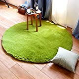 moonrug Super Soft Nursery Rug Anti-Skid Fluffy Round Children Area Rug for Bedroom Kids Room Woman Yoga Mat, 4 Feet, Green