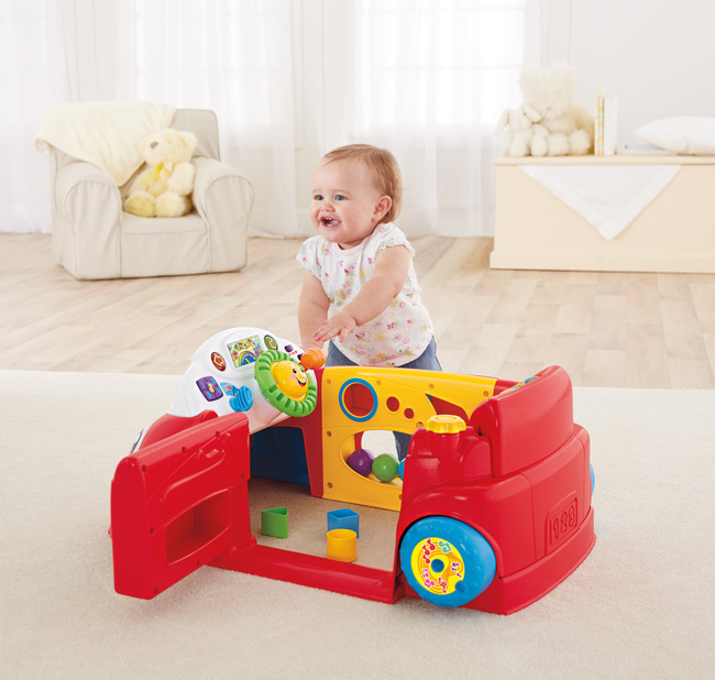 Toys For 9 Month Girl : Amazon fisher price laugh and learn crawl around car
