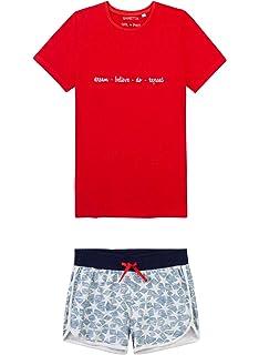Sanetta M/ädchen Schlafanzug Shorty aus der Athleisure Kollektion Stars