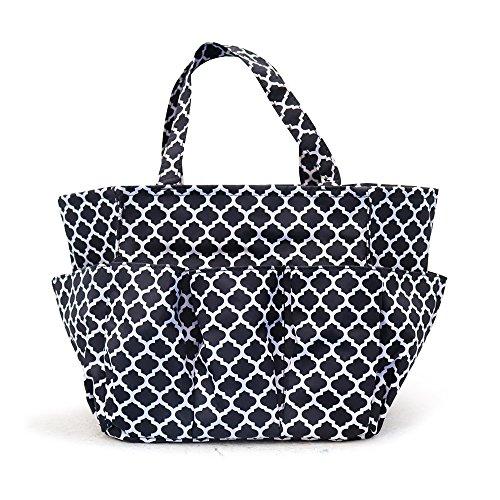 Gardening Bag (Multi Purpose Tote garden Tools Bag farm Fresh Tote with Multi Pockets 4 Side Pouches (Black))