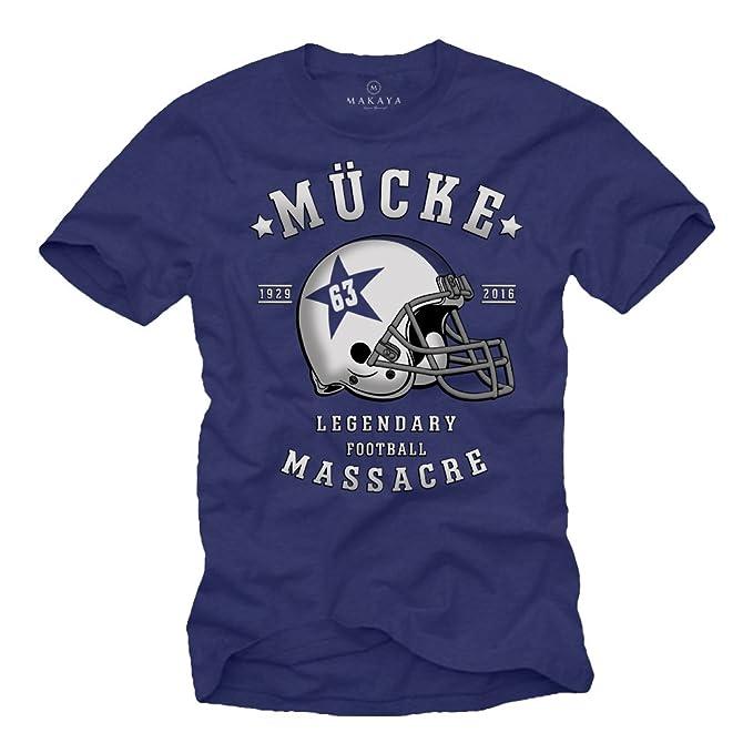 Camiseta Futbol Americano MÜCKE 63 Casco - Retro Azul S