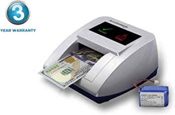 Multi-Orientation Feeding System Visual and Audible Alerts Banknote Verification USD, EUR, GBP Multi-Currency Detection AccuBANKER D585 Multi-Scanix Counterfeit Currency Detector With AccuSTAND