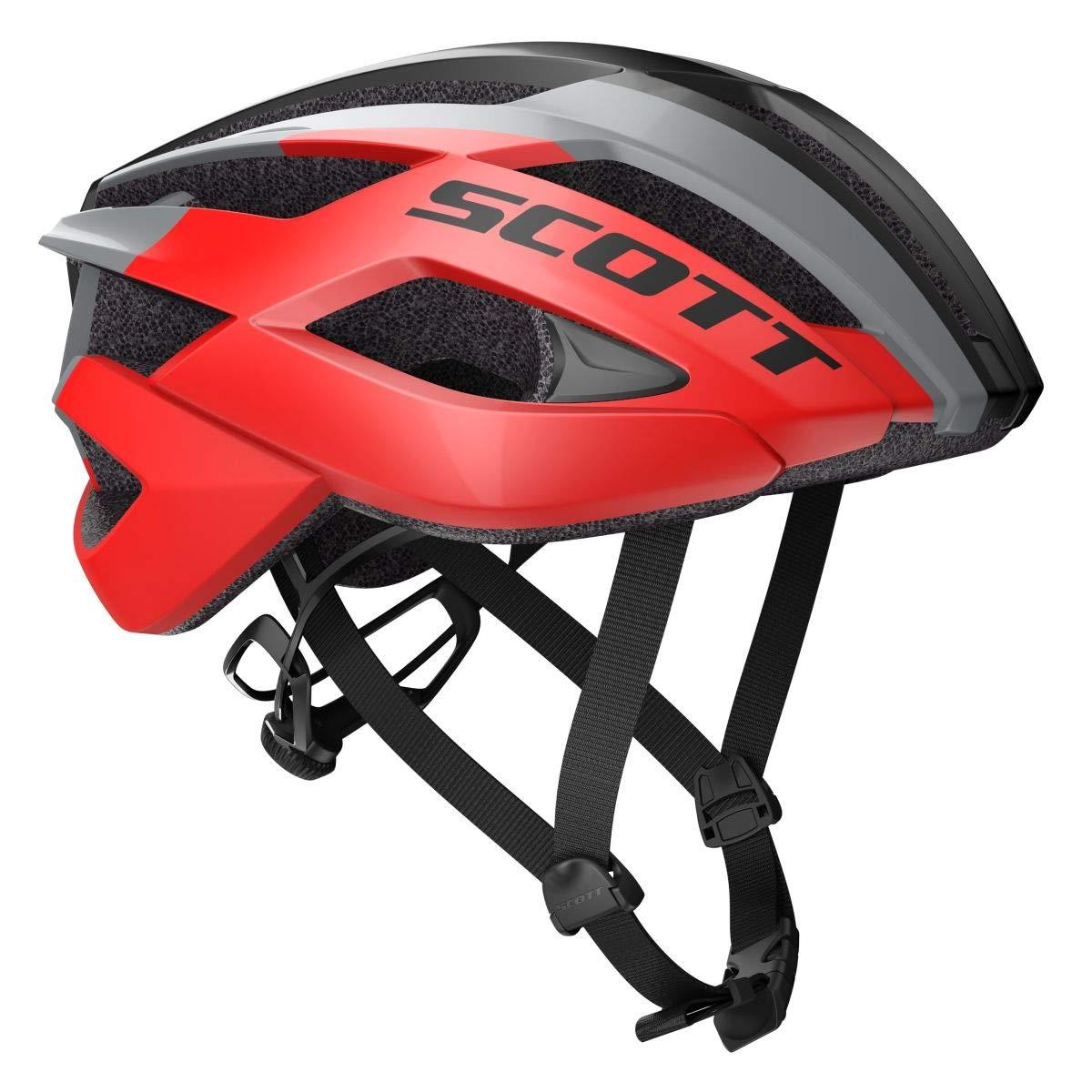 Scott Arx Rennrad Fahrrad Helm rot/grau 2019
