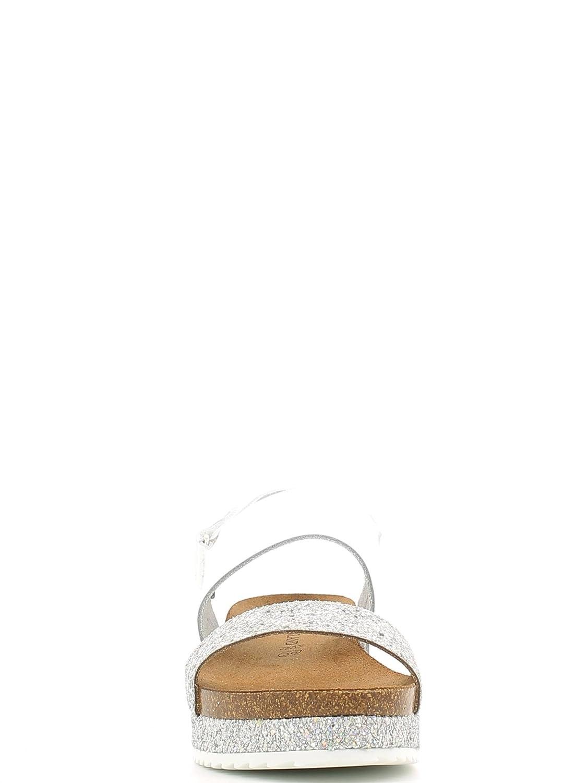 GRUNLAND SIME SB0675 bianco sandali donna birk anatomici glitter 39 Venta De Descuento De Salida Venta Al Por Mayor Del Mejor Barato Jw3G8WRau9