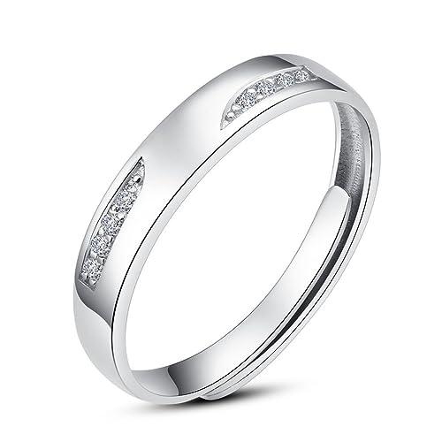 Minalo broche de plata de ley bonito circonitas cúbicas anillos de boda para mujer anillo