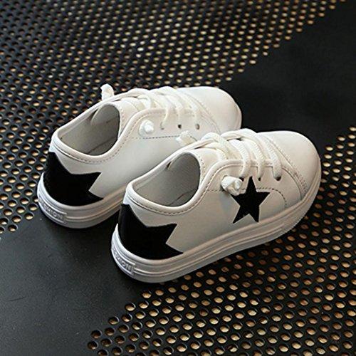 Hunpta Kinder Kid Infant Jungen Mädchen Star Bling Sneaker Lazy Casual Plate Schuhe Schwarz