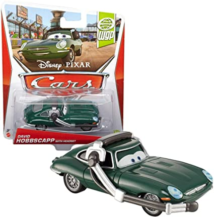 DISNEY CARS DIECAST Brent Mustangburger /& David Hobbscapp Both With Headset