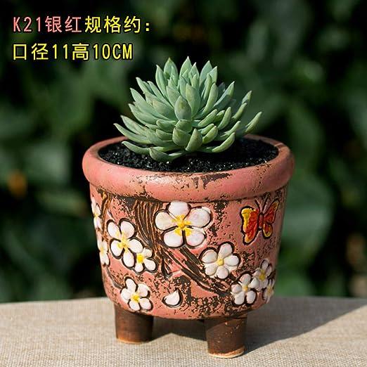 Desconocido Maceta Redonda de cerámica con Forma de Mariposa ...