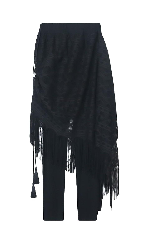Leggings Mujer Cintura Alta Push Up Slim Fit con Encaje Elegante ...
