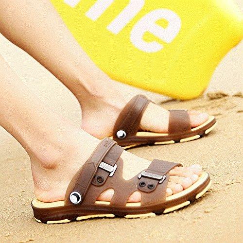 Xing Lin Sandalias De Hombre Sandalias De Verano De Hombres Zapatillas Sandalias Zapatillas Hombres Zapatos El Agujero De Patinaje Patinaje Toe Sandalias De Estudiante brown