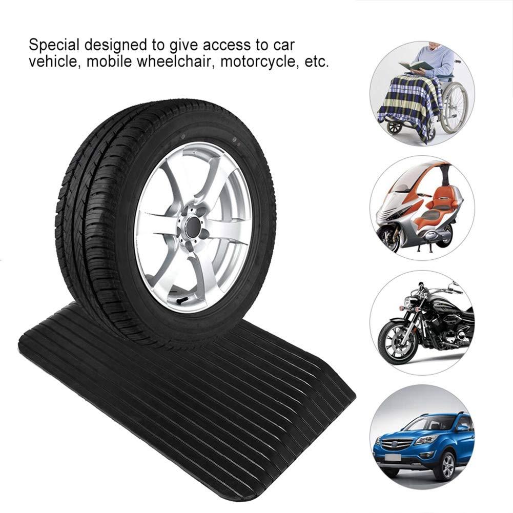 Rampa per gradini per Auto Sedia a rotelle Rampa per soglia Gomma rimorchi roulotte Accesso per disabili 110 * 42 * 6,4 cm