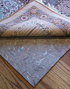 """10'x13' Rug Pads for Less Super Premium (TM) 100% Dense Felt Jute 1/3"""" Thick Rug Pad for Hard Floors and Exclusive Rug Pads for Less(TM) Custom Cutting"""