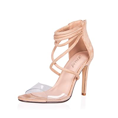 JSUN7 Women's Fashion Stiletto High Heel Sandal Pump Shoe | Shoes