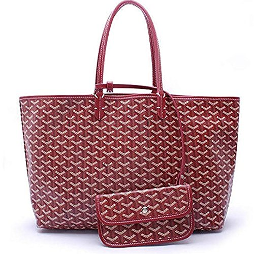 DLMBB Women Large Tote Purse Classic Travel & Shopping Top Handle Handbags Shoulder Bags Jujube Red