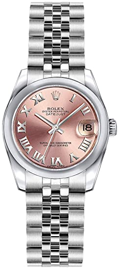 Rolex lady-datejust 26 179160 rosa Dial mujer reloj