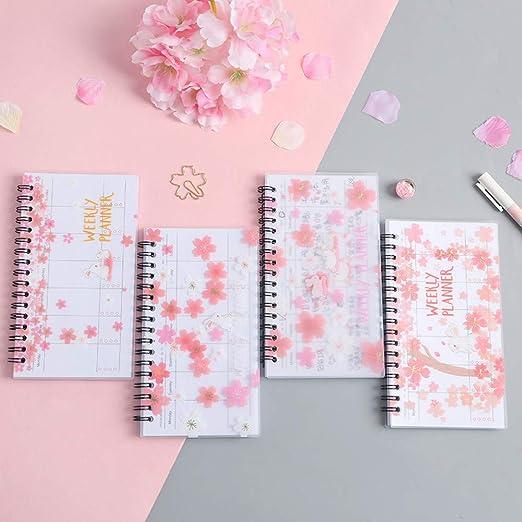 ZHUIUI Cuaderno A6 Planificador semanal Cuaderno Útiles ...