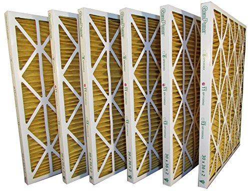 30x36x2 MERV 11 GeoPure Geothermal Air Filter (pack of 6) by GeoPure