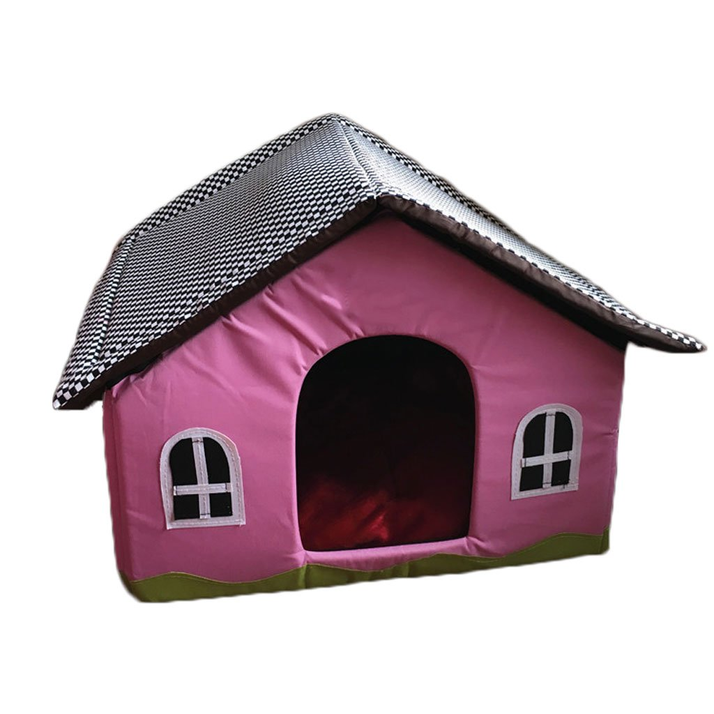 GHMM Letto per animali domestici Cuccia traspirante in tela fresca, traspirante, impermeabile, antiscivolo e resistente Letto per animali domestici (colore   rosa, dimensioni   L.)