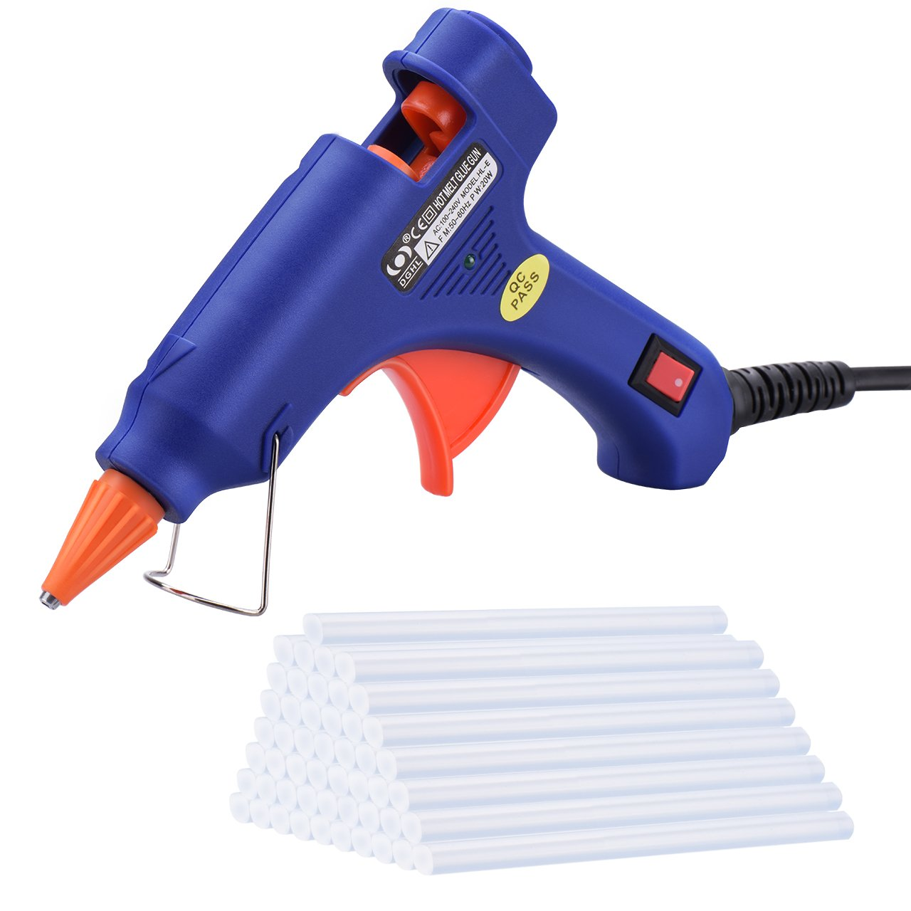 Hot Glue Gun, TopElek Mini Hot Glue Gun with 50 pcs Melt Glue Sticks