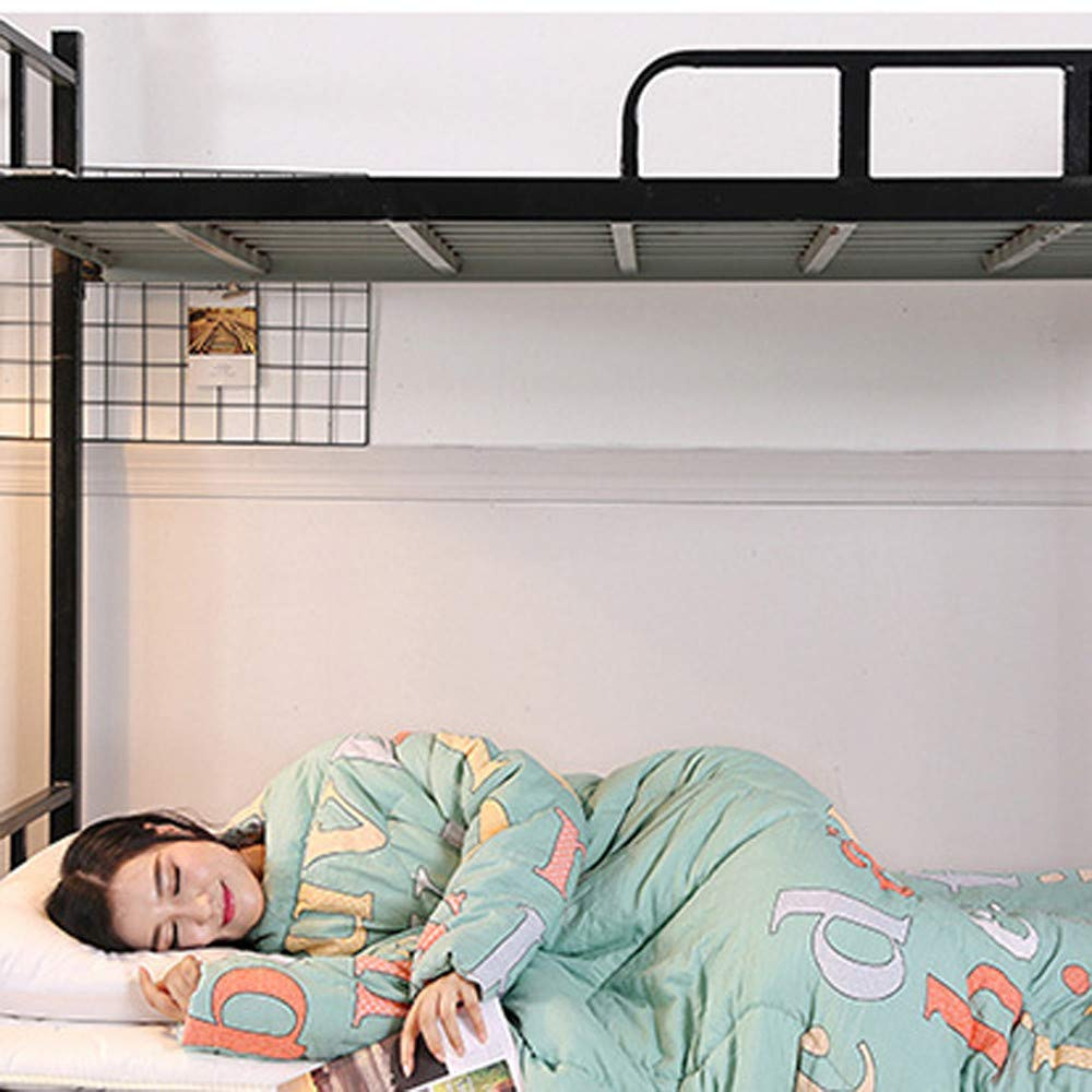 Danhjin Blanket with Sleeves and Pockets, Super Soft Home Adults Wearable Throw Robe (A) by Danhjin (Image #3)