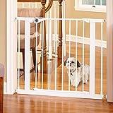 """North States MyPet 38.1"""" Wide Essential Walk Thru Gate: Ideal for securing hallways or doorways. Extra Wide Doorway. Pressure"""