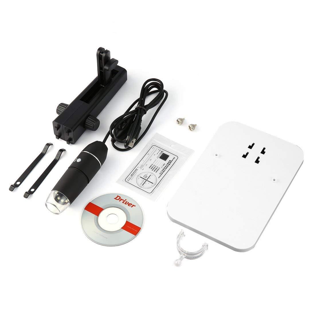 Sanzhileg Microscopio Portatile Wireless HD H63 WiFi USB Digitale da 50x a 1000x Nero Argento