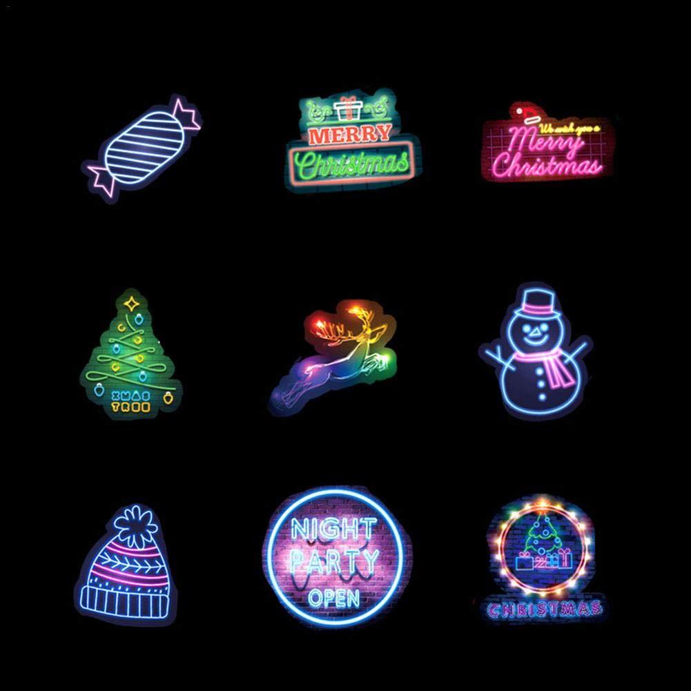 Bagagli Laptop Chitarra Freedomanoth 50pcs Adesivo Neon Natale Graffiti Impermeabile Adesivo Decorazione Natalizia per Auto Skateboard