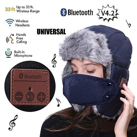 aa44a843e3263 Amazon.com   Mokiki Bluetooth Winter Hunting Hat