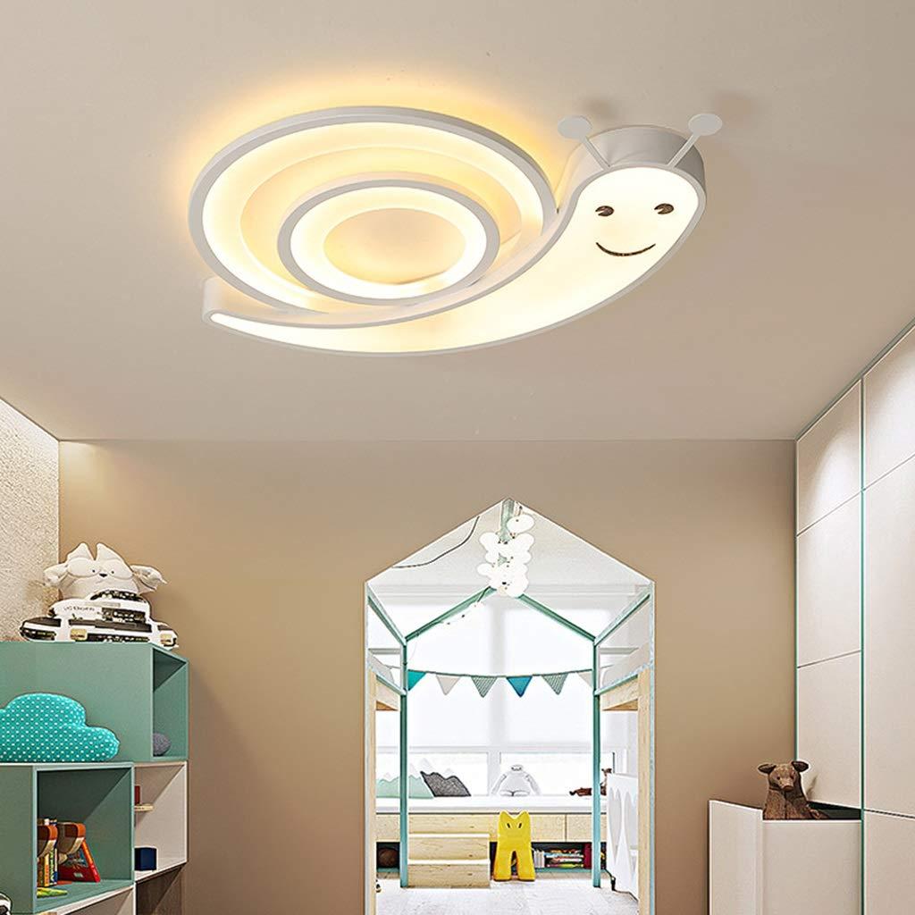 RXY-シーリングライト 漫画ledリビングルーム寝室子供部屋の装飾照明テーブルランプ省エネ目カタツムリ形状天井ランプ (Color : 白, サイズ : 52cm) 52cm 白 B07SPGWDCZ