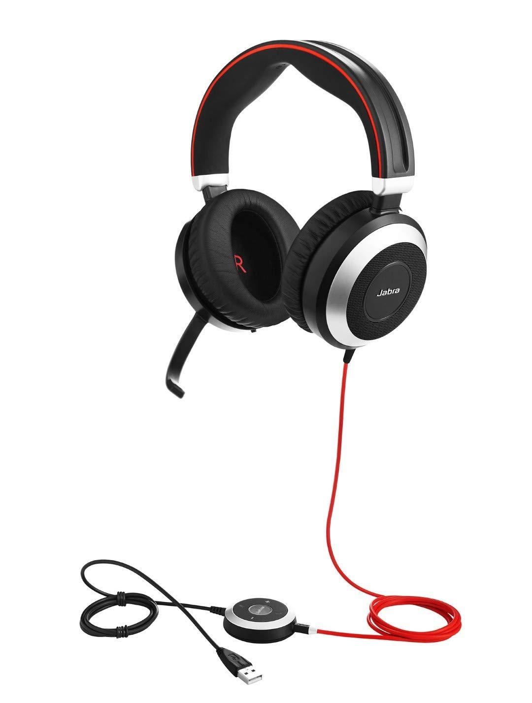 CU optimizado para comunicaciones unificadas Auricular con micr/ófono est/éreo con cancelaci/ón de Ruido Jabra Evolve 80