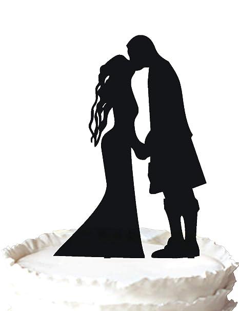 Wedding cake topper scottish wedding silhouette cake topper wedding cake topper scottish wedding silhouette cake topper junglespirit Gallery
