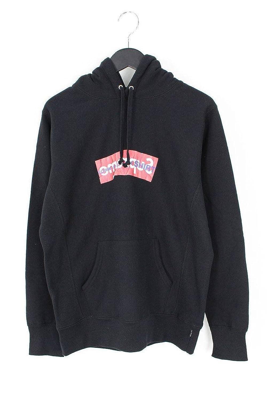 (シュプリーム) SUPREME ×コムデギャルソンシャツ/COMME des GARCONS SHIRT 【17SS】【Box Logo Hooded Sweatshirt】ペーパーアートボックスロゴプルオーバーパーカー(S/ブラック) 中古 B07FTHF4RF  -