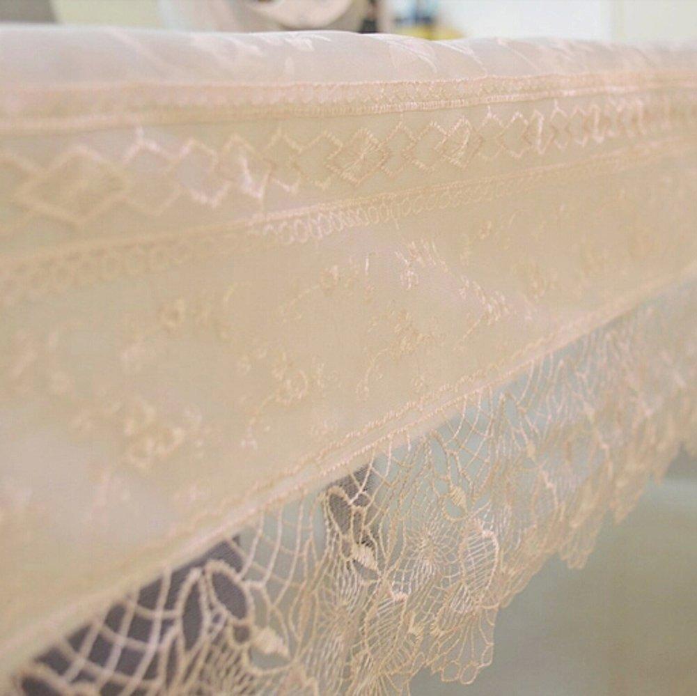Tela de mantel de jardín Grueso hecho a mano cinta bordado manteles mantel de redondo mantel cover toallas-B 105x105cm(41x41inch): Amazon.es: Hogar