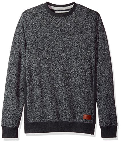 Quiksilver Pullover Sweatshirt - Quiksilver Men's Keller Crew Sweatshirt, Dark Grey Heather, L