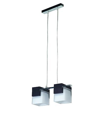 Bauhaus - Lámpara de techo (2 focos, diseño Hogar, en color ...