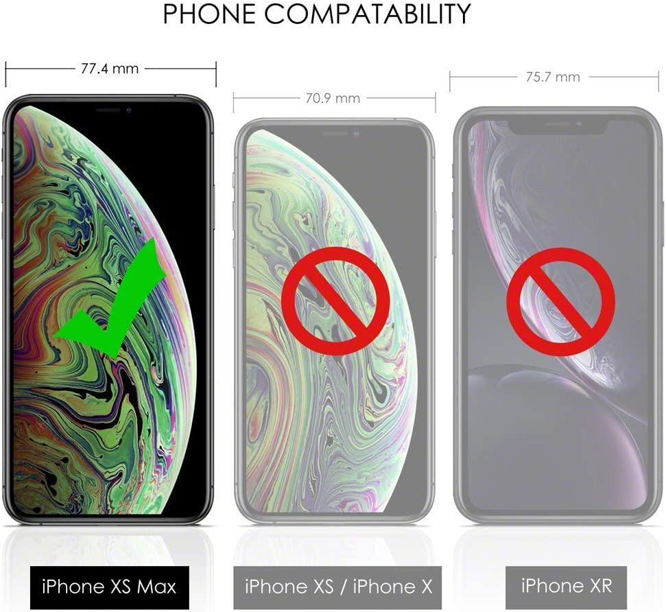 Or Rose Ultra Mince Souple TPU Housse avec Cordon XTCASE Transparente Silicone Coque pour iPhone XS Max 360 Degr/és Antichoc /Étui avec Collier pour t/él/éphone Portable