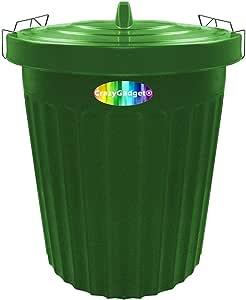 Ucake - Cubo de basura de plástico para jardín, 100 L, color verde: Amazon.es: Hogar