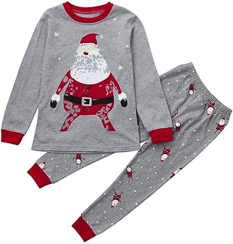 Hot Infant Kids Baby Boys Santa Claus Long Sleeve Tops T-shirt Casual Clothes