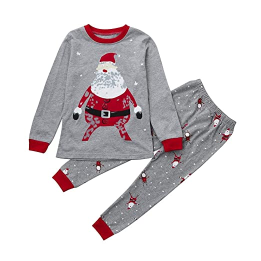 314818323 Vicbovo Xmas Clearance Sale Toddler Baby Boy Girl Christmas Pajamas Santa  Shirt Pants Kids Sleepwear Outfits