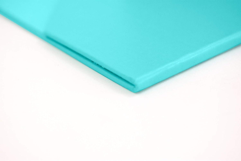 Blu Monaco Foldable Aqua Magazine File Holder with Leather Label Holder /â Set of 6 /â Cardboard Magazine File Boxes Desk File Organizer
