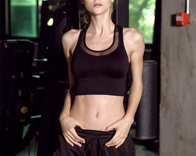 Black Women Sport Yoga Bra Running Climbing Jogging Fitness Exercise High Impact Workout