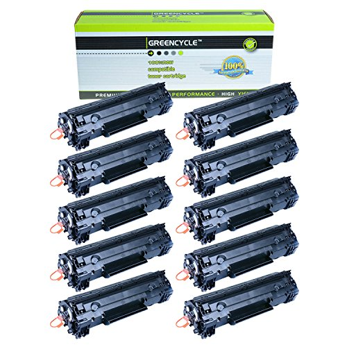 GREENCYCLE ® 10 PK CRG-126 126 128 Black Laser Toner Cartridges For Canon ImageClass LBP6200d