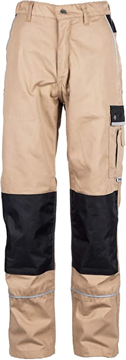 TMG® Pantalones de Trabajo para Hombres | Negro | XS-7XL | Pantalones de Trabajo Resistentes y Elásticos | con Multibolsillos y Reflectores | Artesanos, Electricistas, Mecánicos