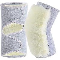 BESPORTBLE Wol Winter Knie Warmers: Zachte Thermische Knie Braces Been Warmer Knie Gezamenlijke Ondersteuning Pads…