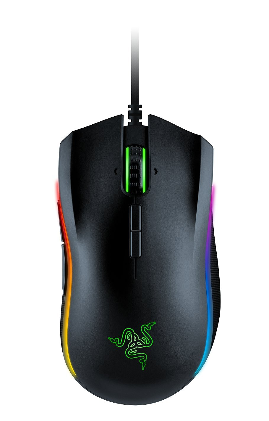 Razer Mamba Elite Wired Gaming Mouse: 16,000 DPI Optical Sensor - Chroma RGB Lighting - 9 Programmable Buttons - Mechanical Switches