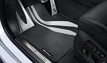 Bmw Genuine M Performance Car Floor Mats Front Set X5 X6 Series 51472353382 Amazon Co Uk Car Motorbike